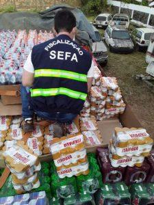 Agentes apreendem quase 11 mil latinhas e garrafas de cerveja sem nota fiscal em Marabá